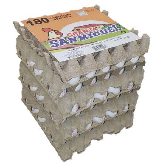 Imagen de Pack 6x30 Huevos Blanco Mediano de 57 grs.