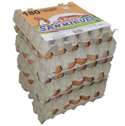 Imagen de Pack 6x30 Huevos Color Grande de 64 grs