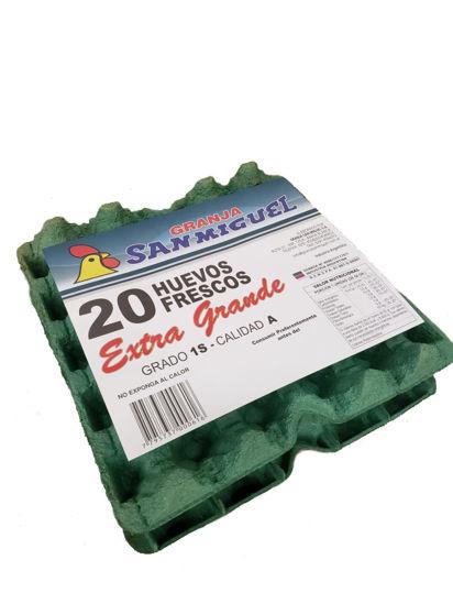 Imagen de Pack 1x20 Huevos Blanco Extra Grande de mas de 75 grs.