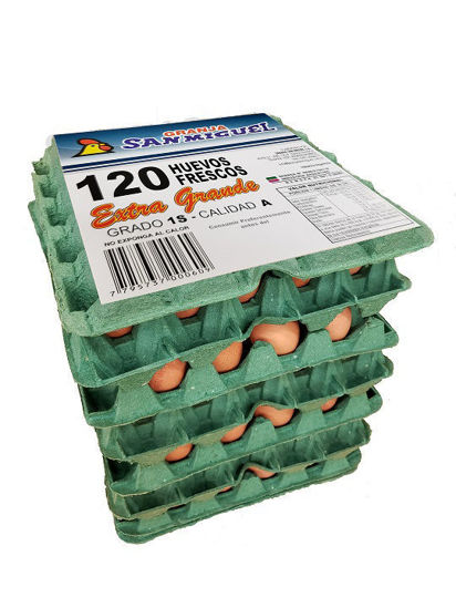 Picture of Pack 6x20 Huevos Color Extra Grande de mas de 75 grs.