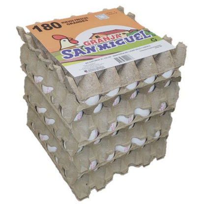 Imagen de Pack 6x30 Huevos Blanco Grande de 64 grs.